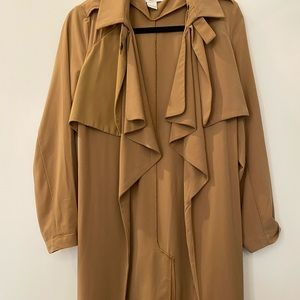 Glamorous size small lightweight camel trench